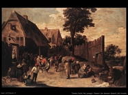 Teniers David the Youngers Ballo fuori da una locanda