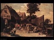 Teniers David the Youngers Ballo fuori da una locanda