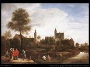 Teniers David the Youngers Vista di Stercksh vicino ad Anversa