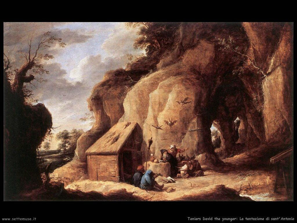 Teniers David the Youngers Le tentazioni di sant'Antonio