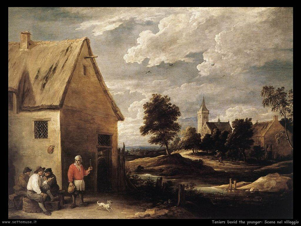 Teniers David the Youngers Immagine dal villaggio