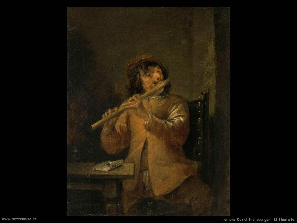 Teniers David the Youngers Il suonatore di flauto