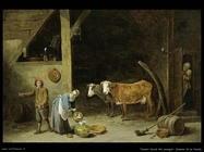 Teniers David the Youngers Interno di fienile