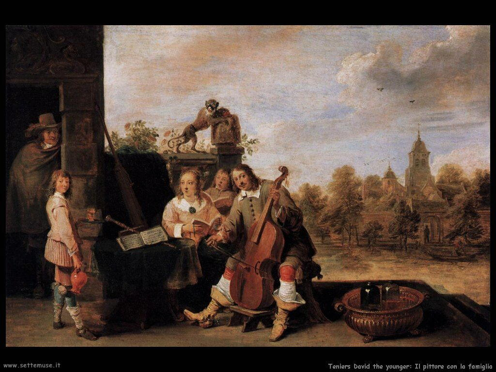 Teniers David the Youngers Il pittore con la famiglia