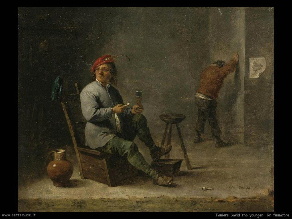 Teniers David the Youngers Fumatore