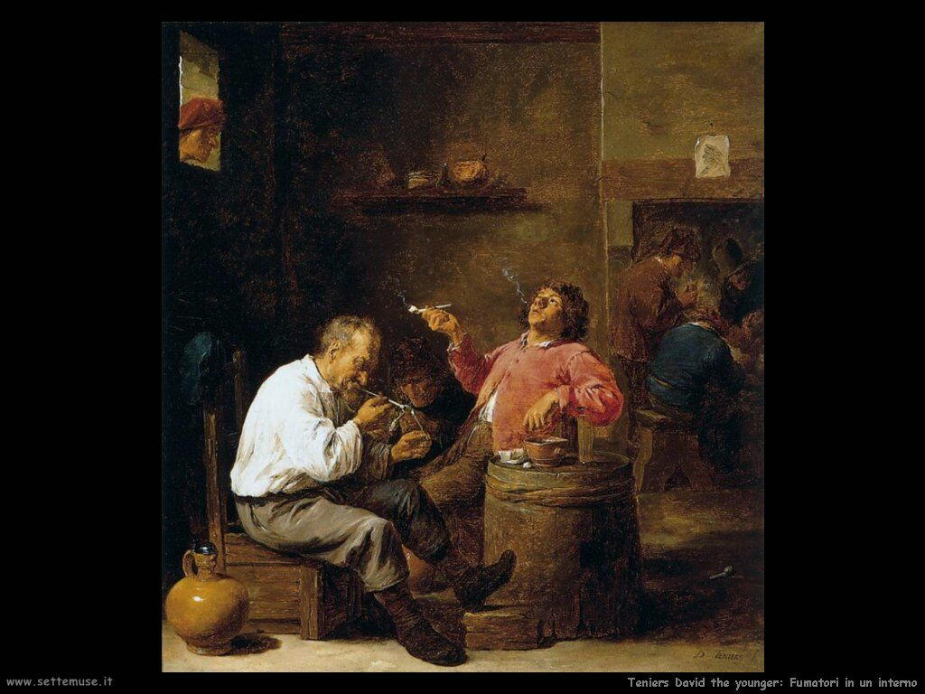 Teniers David the Youngers Fumatori in un interno
