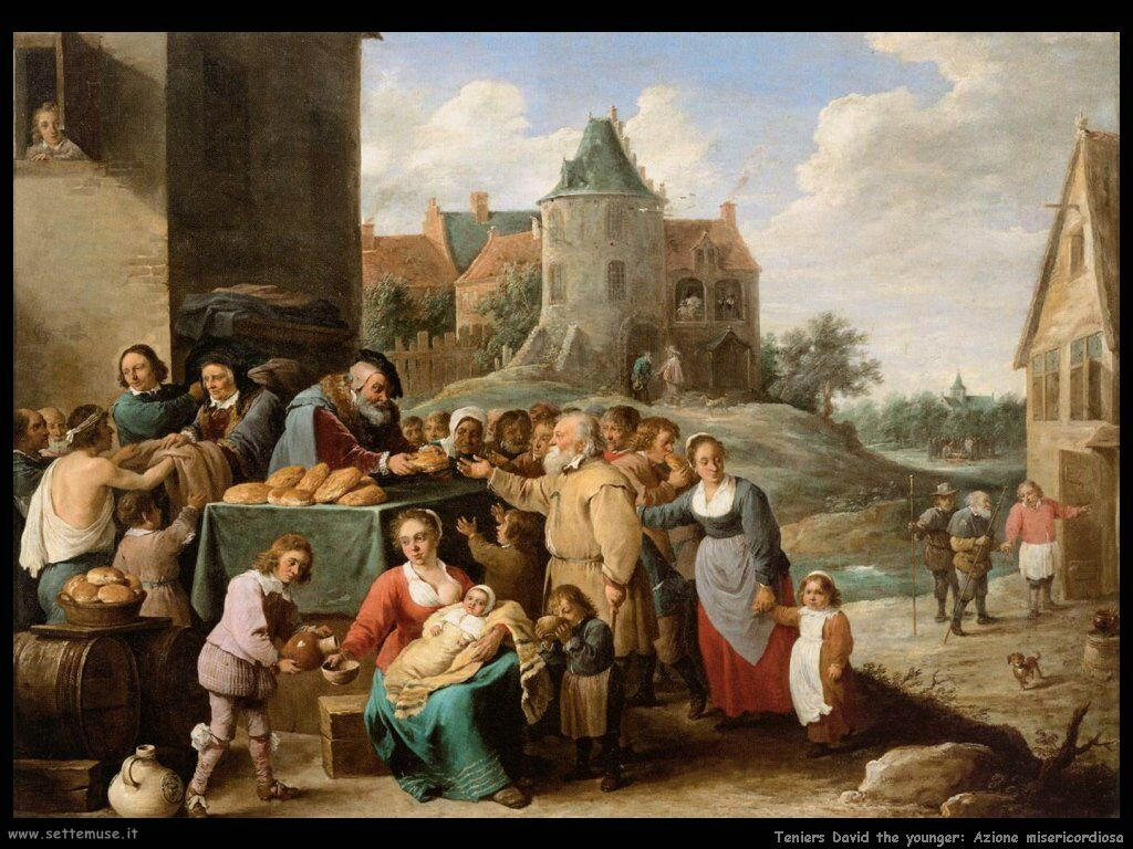 Teniers David the Youngers Le opere di misericordia