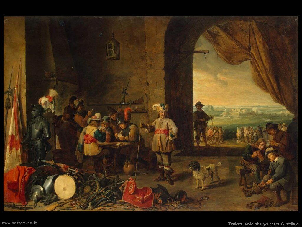 Teniers David the Youngers Posto di guardia