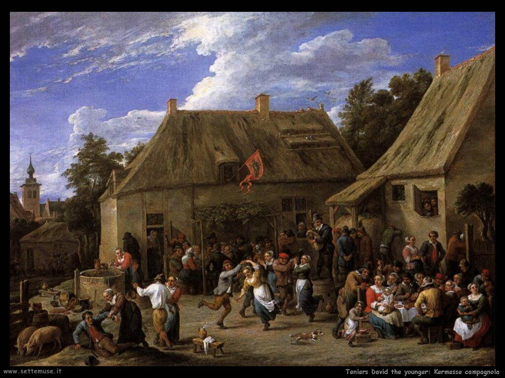 Teniers David the Youngers Festa di paese