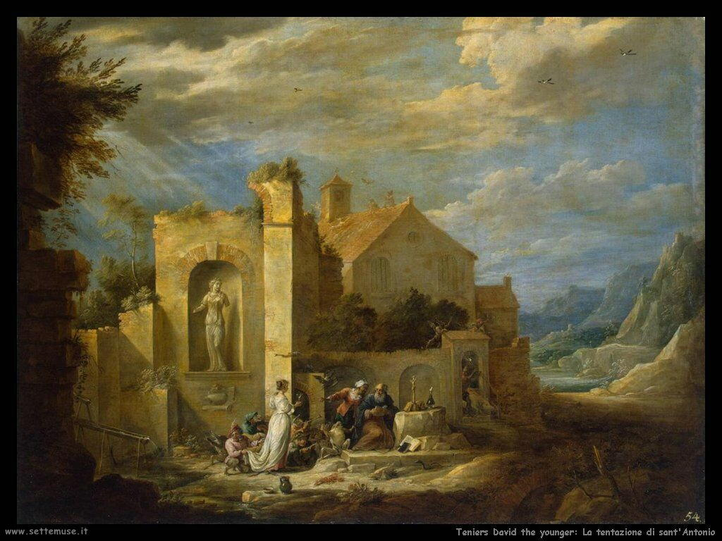 Teniers David the Youngers La tentazione di Sant'Antonio