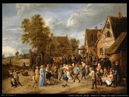 Teniers David the Youngers Borgo di Ravel con copia aristocratica