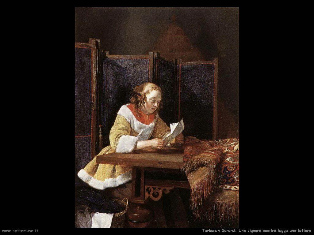 Terborch Gerard Una signora legge una lettera
