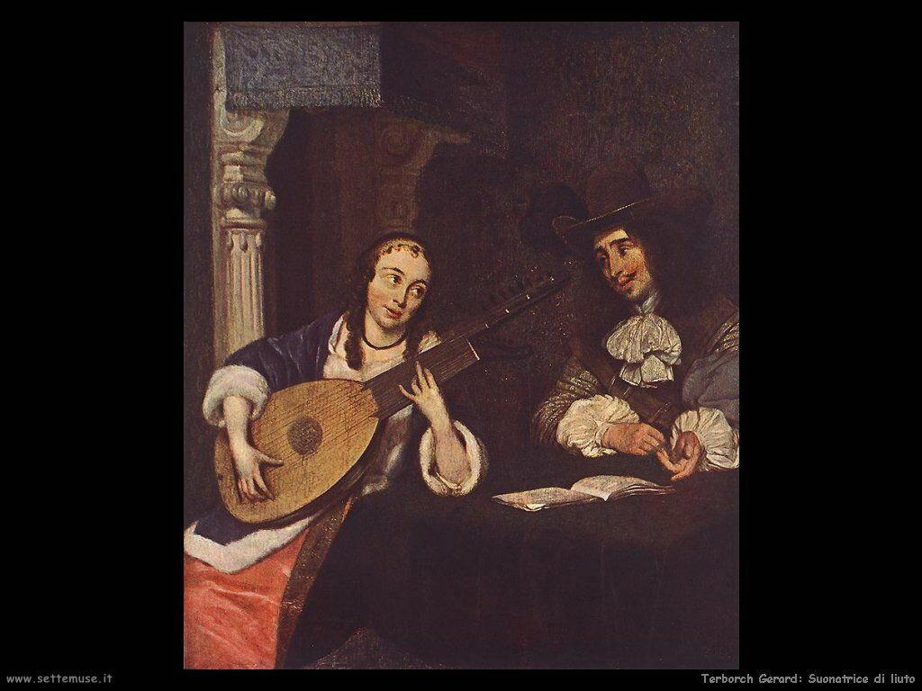 Terborch Gerard Donna che suona il liuto