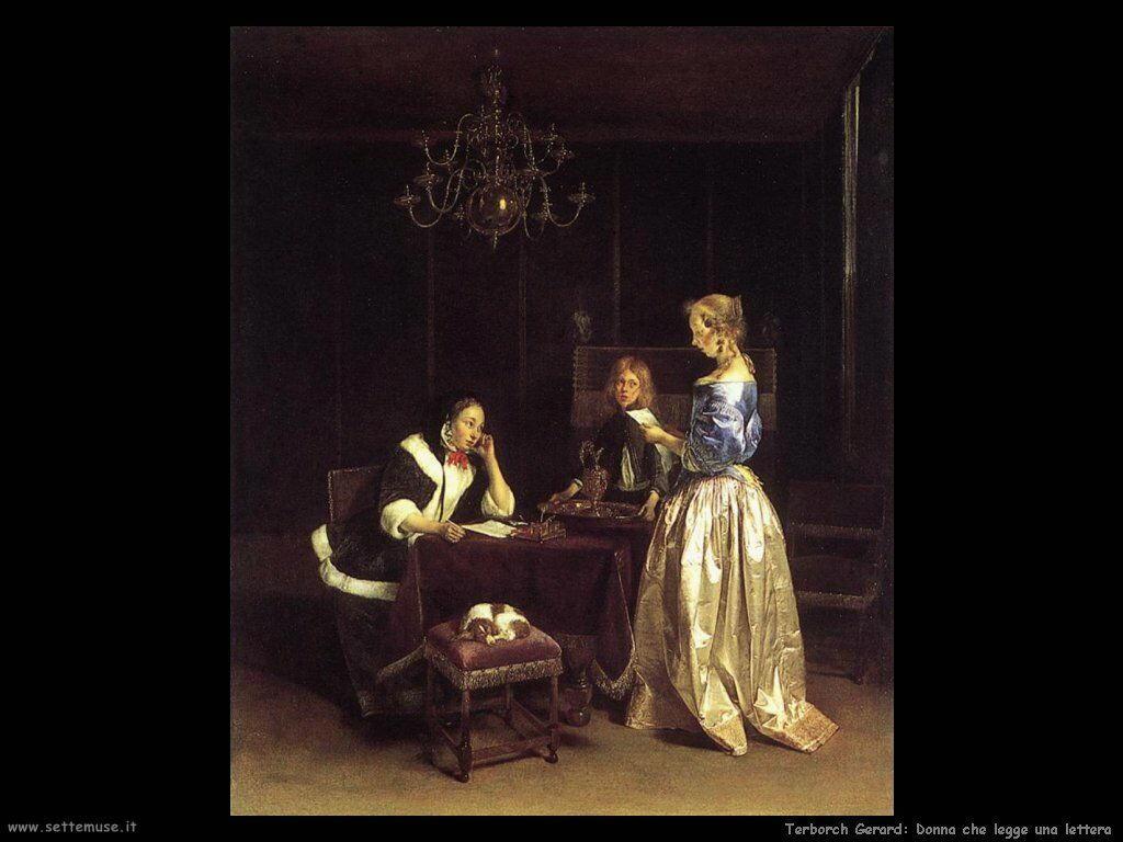 Terborch Gerard Signora che legge una lettera