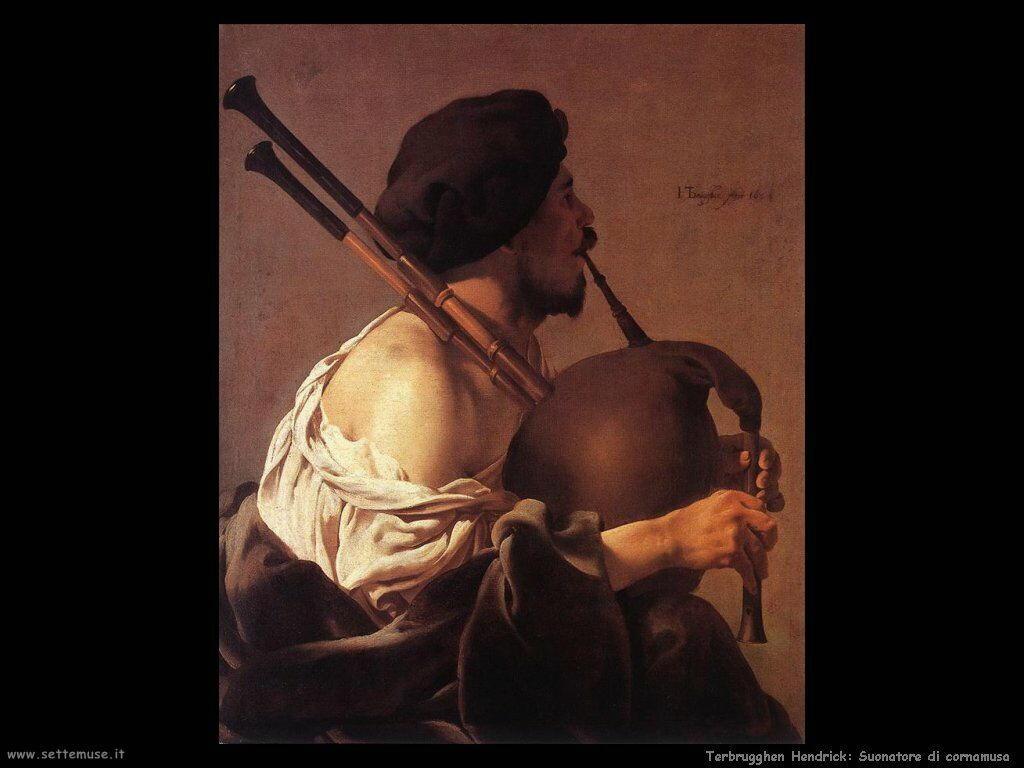 Terbrugghe Hendrick Il suonatore di cornamusa