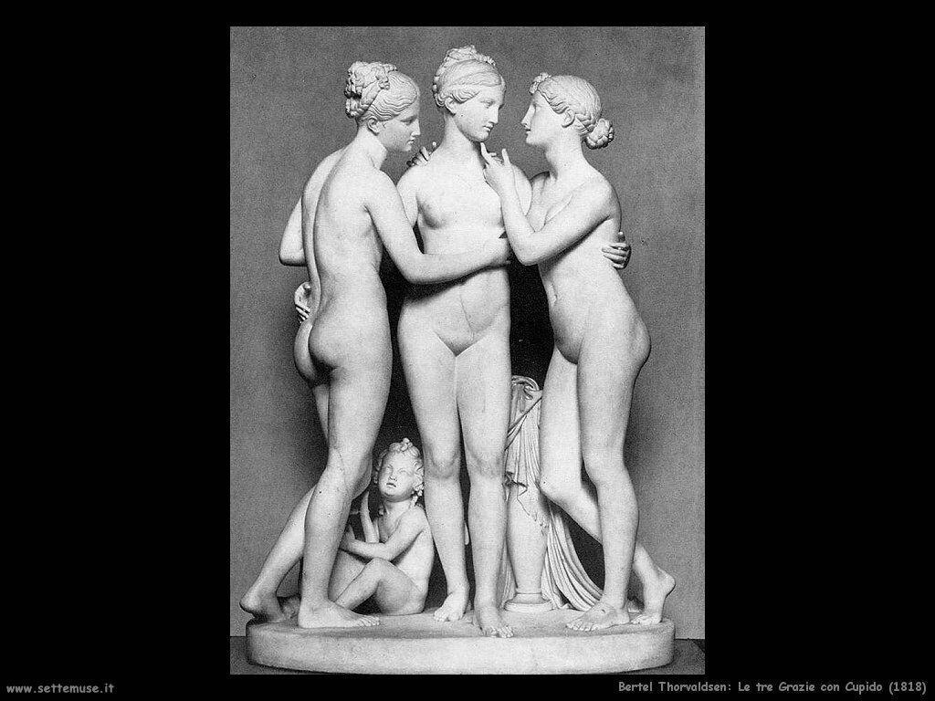 Thorvaldsen Berthel  Le tre Grazie con Cupido (1818)