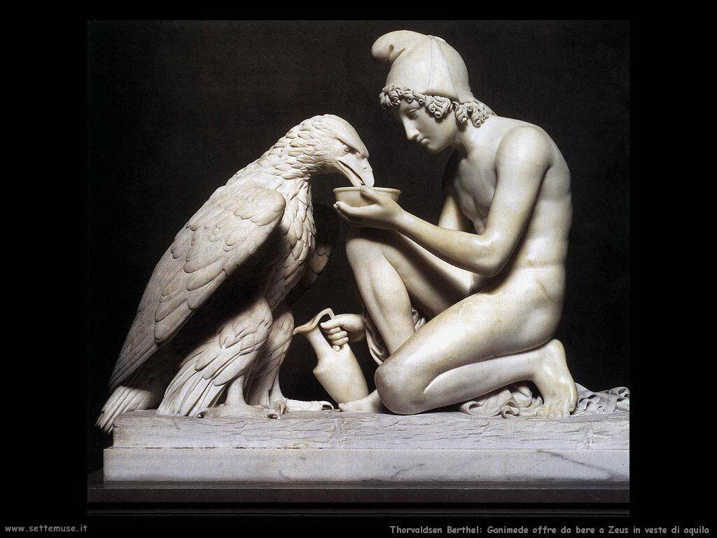 Thorvaldsen Berthel Ganymede abbevera Zeus in forma d'aquila