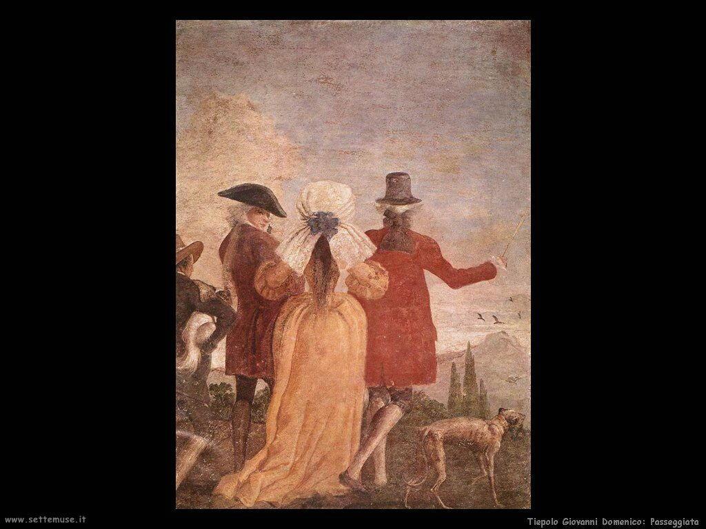 Tiepolo Giovanni Domenico Passeggiata