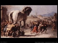 Tiepolo Giovanni Domenico Processione cavallo di Troia