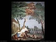Tiepolo Giovanni Domenico Paesani in riposo