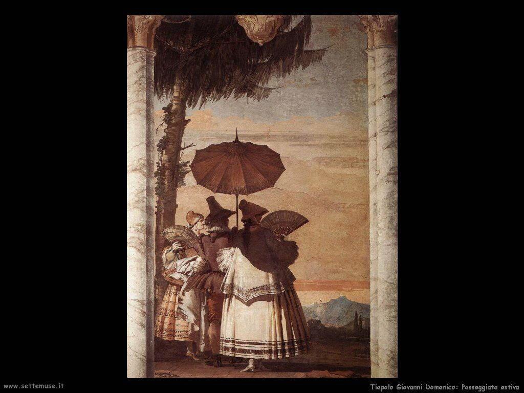 Tiepolo Giovanni Domenico Passeggiata estiva