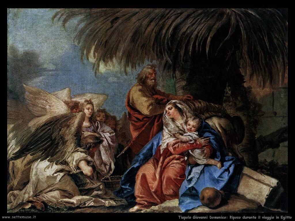Tiepolo Giovanni Domenico Viaggio in Egitto