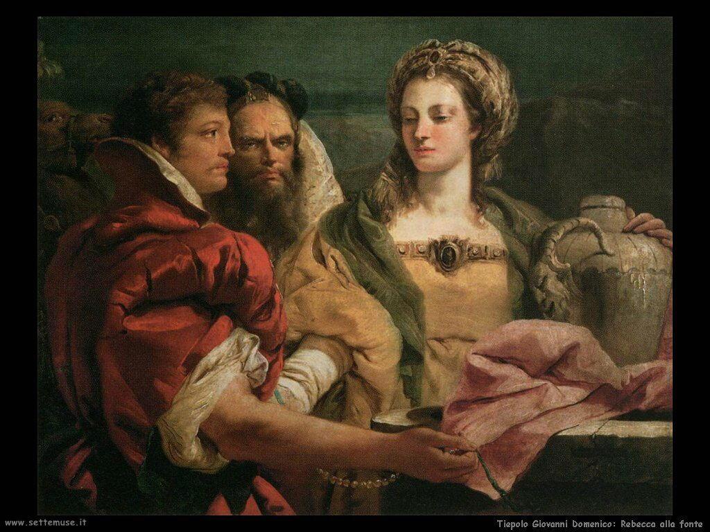 Tiepolo Giovanni Domenico Rebecca alla fonte