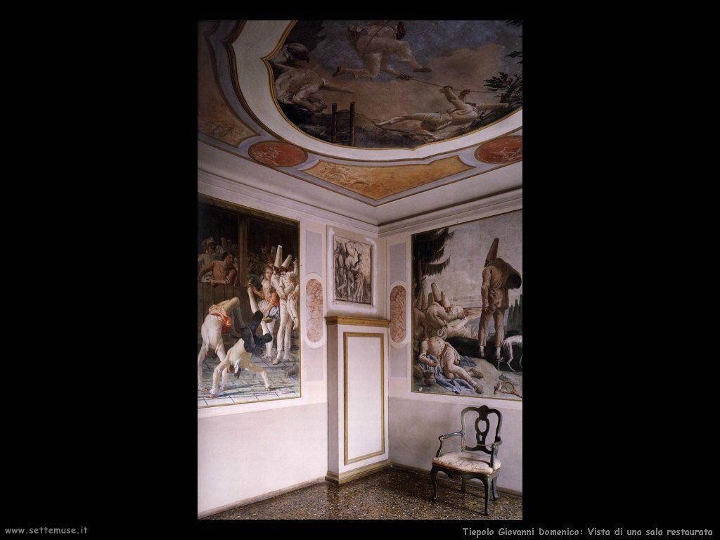 Tiepolo Giovanni Domenico Vista di una sala