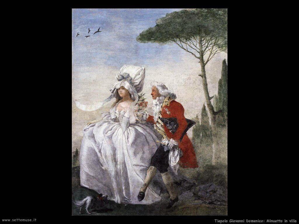 Tiepolo Giovanni Domenico Minuetto in villa