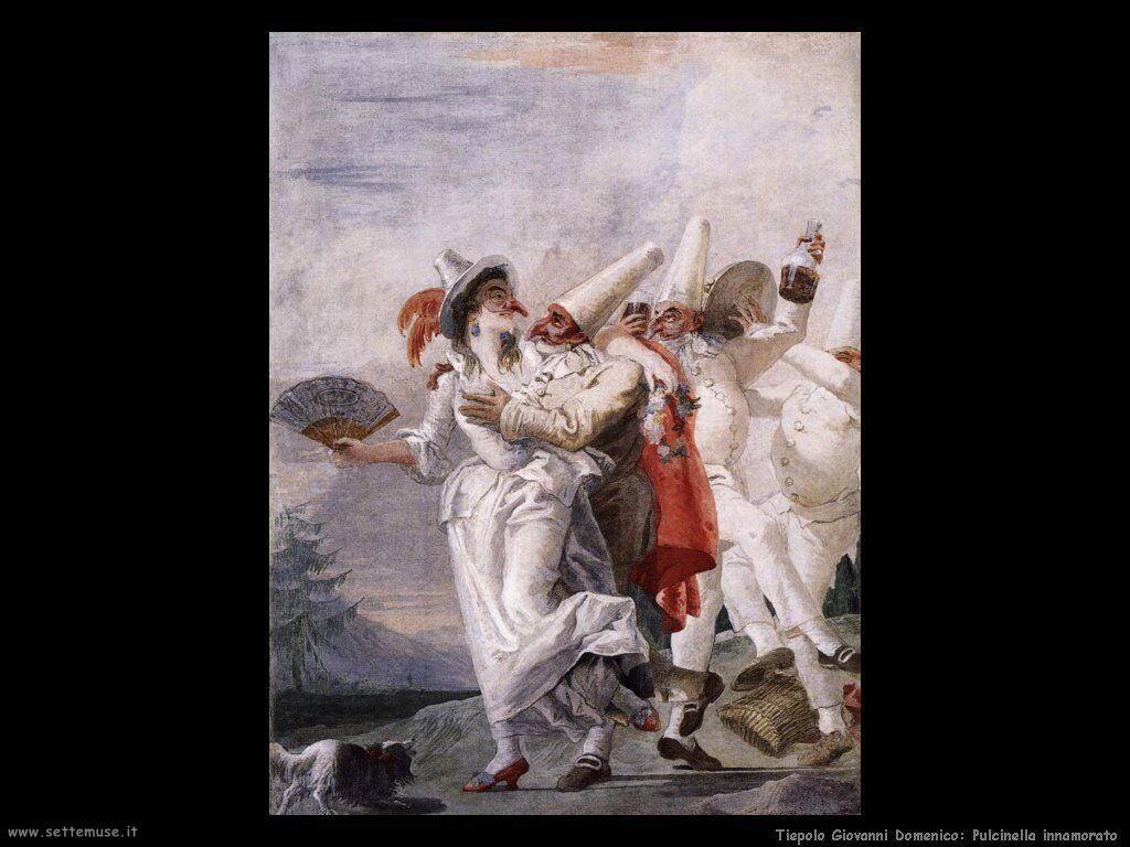 Tiepolo Giovanni Domenico Pulcinella innamorato