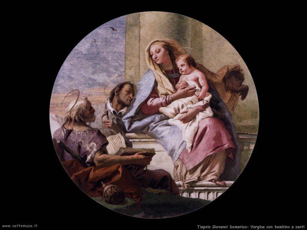 Tiepolo Giovanni Domenico Vergine con bambino e santi