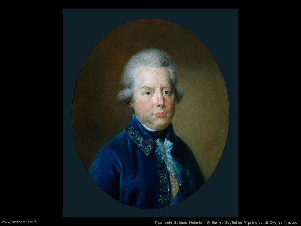 Tischbein Johann Friedrich August Ritratto del Principe di Orange Nassau