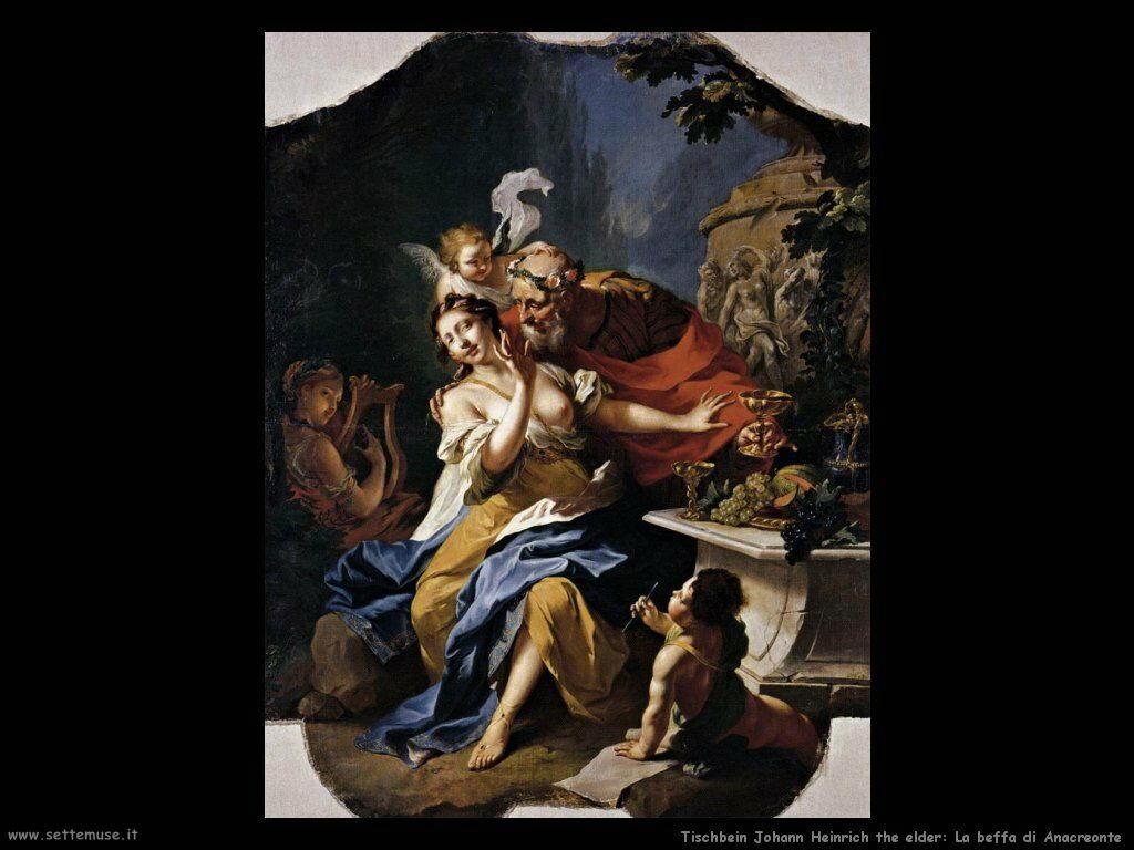 Tischebein Johann Heinrich the Elder Beffa di Anacreonte