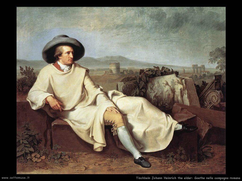 Tischebein Johann Heinrich the Elder Goethe nella campagna romana
