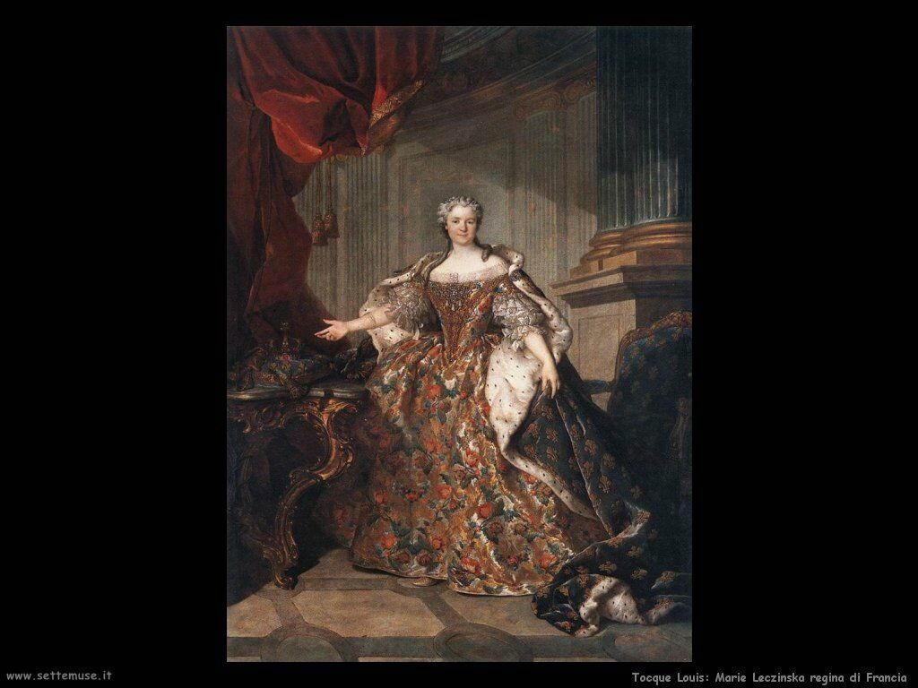 Tocque Louis Maria Leczinska Regina di Francia