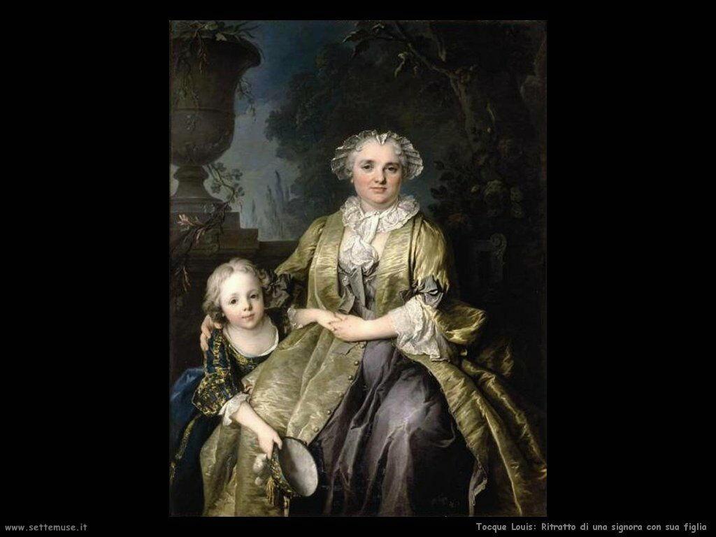 Tocque Louis Ritratto di una Signora con sua figlia