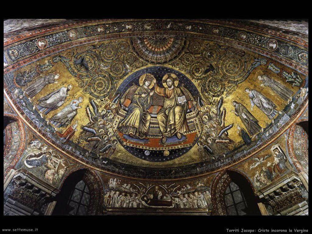 Torriti Jacopo Cristo incorona la Vergine