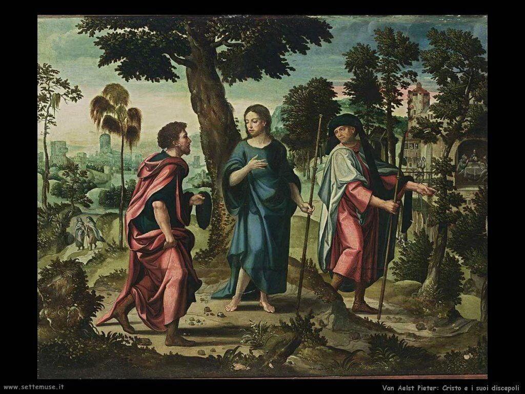 Van Aelst Pieter Cristo e i suoi Discepoli