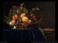 Van Aelst Willem Cesto di frutta su un ripiano di marmo