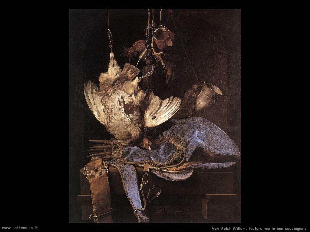 Van Aelst Willem Natura Morta con attrezzatura da caccia