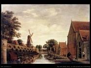 Van Asch Pieter Jansz Le mura della città di Delf sul Houttuinen