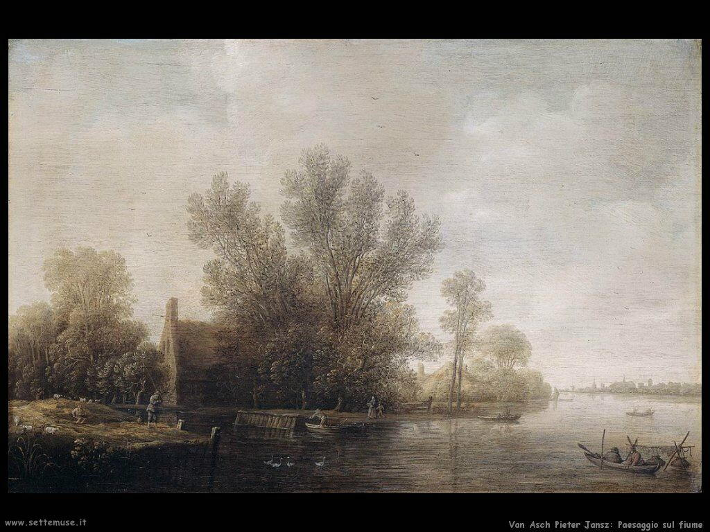 Van Asch Pieter Jansz Paesaggio fluviale