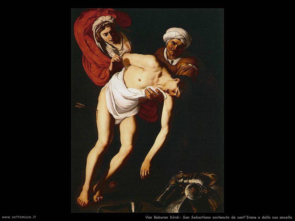 Van Baburen Dirck San Sebastiano curato da sant'Irene e la sua domestica