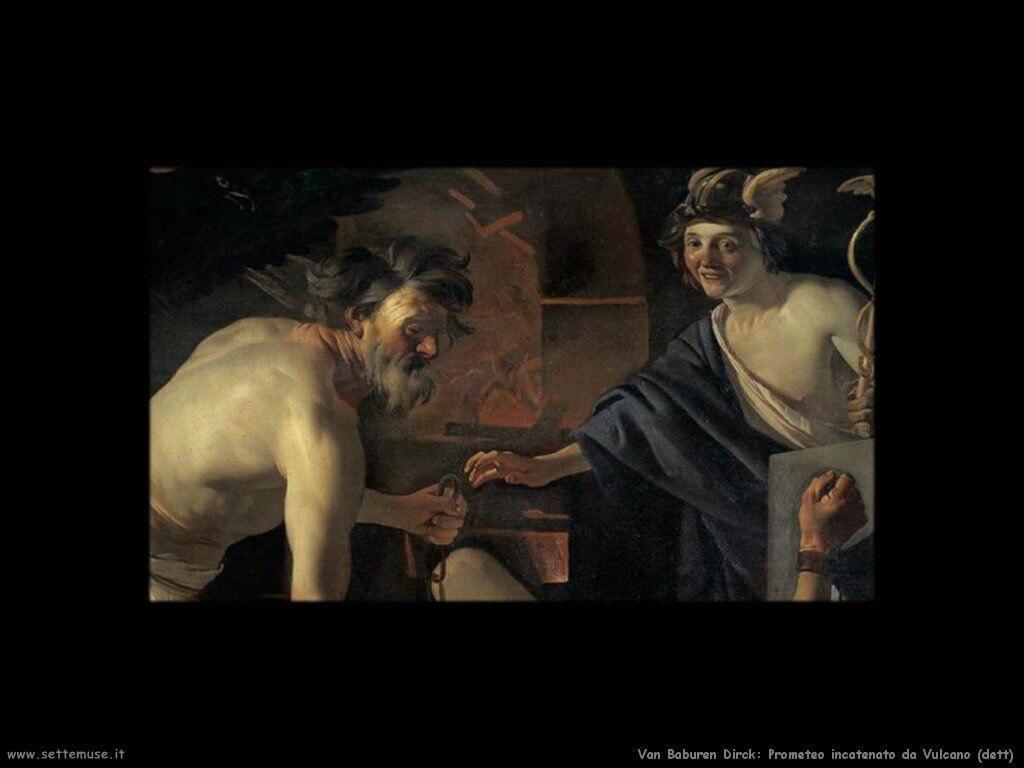 Van Baburen Dirck Dettaglio di Prometeo e Vulcano