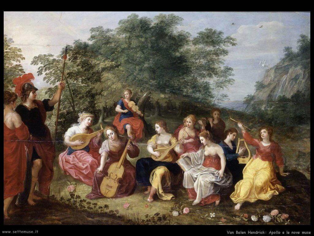 Van Balen Hendrick Apollo e le nove Muse