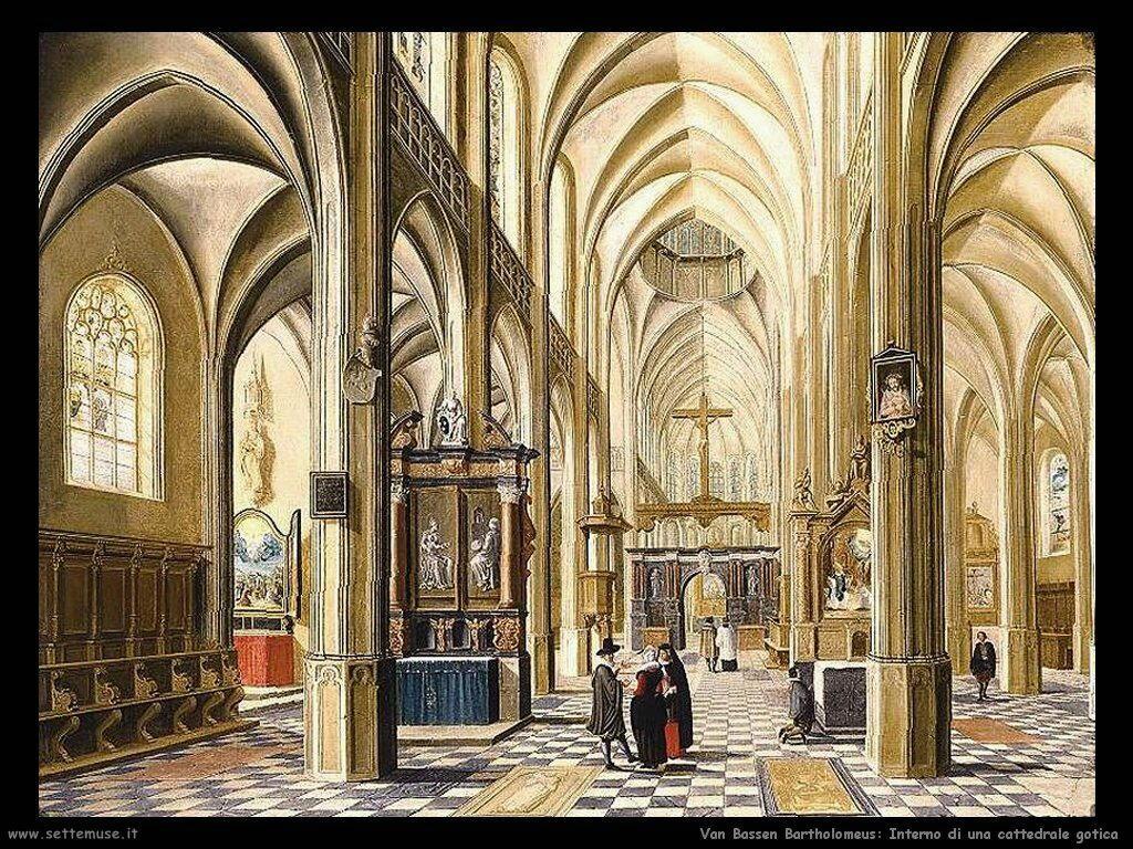 Van Bassen Bartholomeus Interno di una Cattedrale Gotica