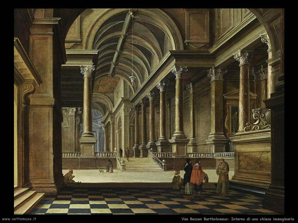 Van Bassen Bartholomeus Interno di una Chiesa immaginaria