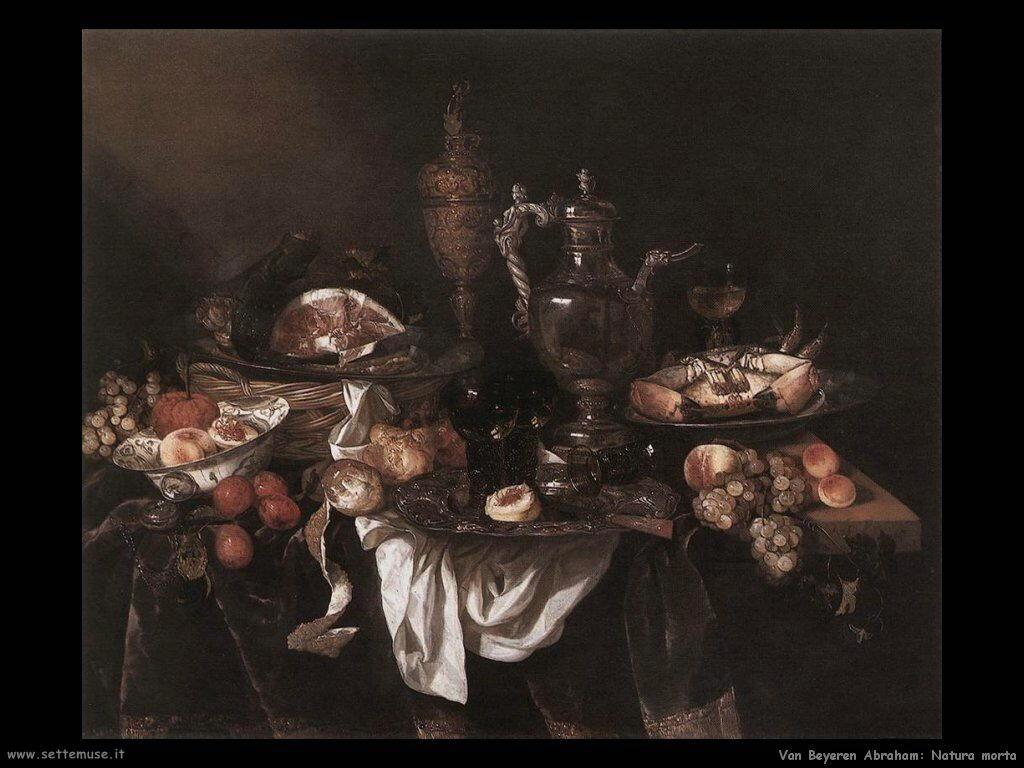 Van Beyeren Abraham Natura Morta con banchetto