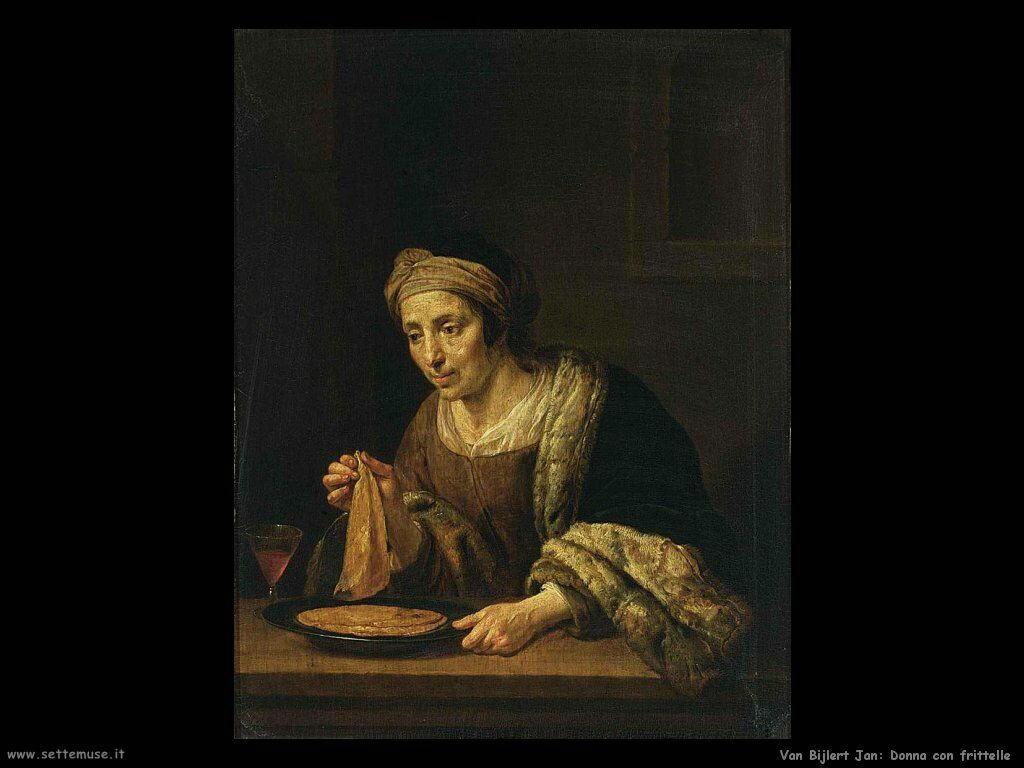Van Bijlert Jan Una donna prepara le frittelle