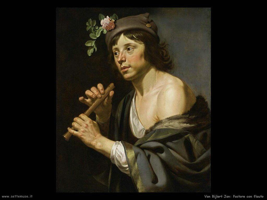 Van Bijlert Jan Pastore con un flauto